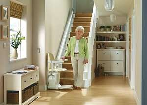 Stannah-Siena stairlift for straight stairs