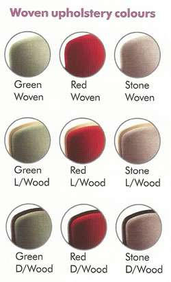 Stannah Starla stairlift woven upholstery colours