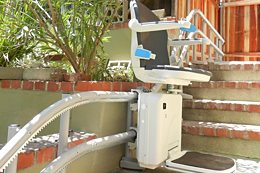 Handicare 2000 outdoor stairlift, external use