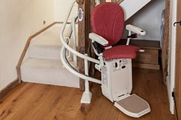 Platinum Ergo Plus chair stairlift for curved staircases