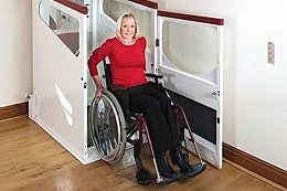 Terry Lifts Harmony through floor domestic home lift, wheelchair optimised