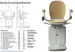 Brooks curved stairlift specifications and dimensions