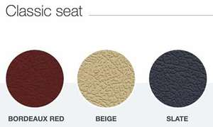 Handicare Freecurve stair lift with Classic seat colours