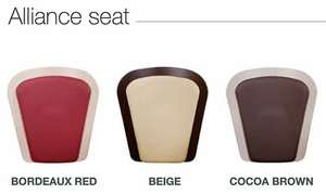 Handicare Freecurve stair lift with Alliance seat colours