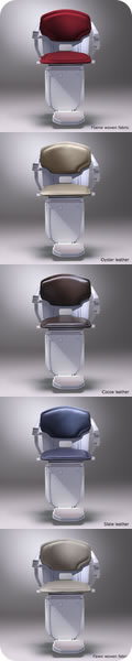 Stannah Solus 260 stairlift for curved stairs. Colours available.